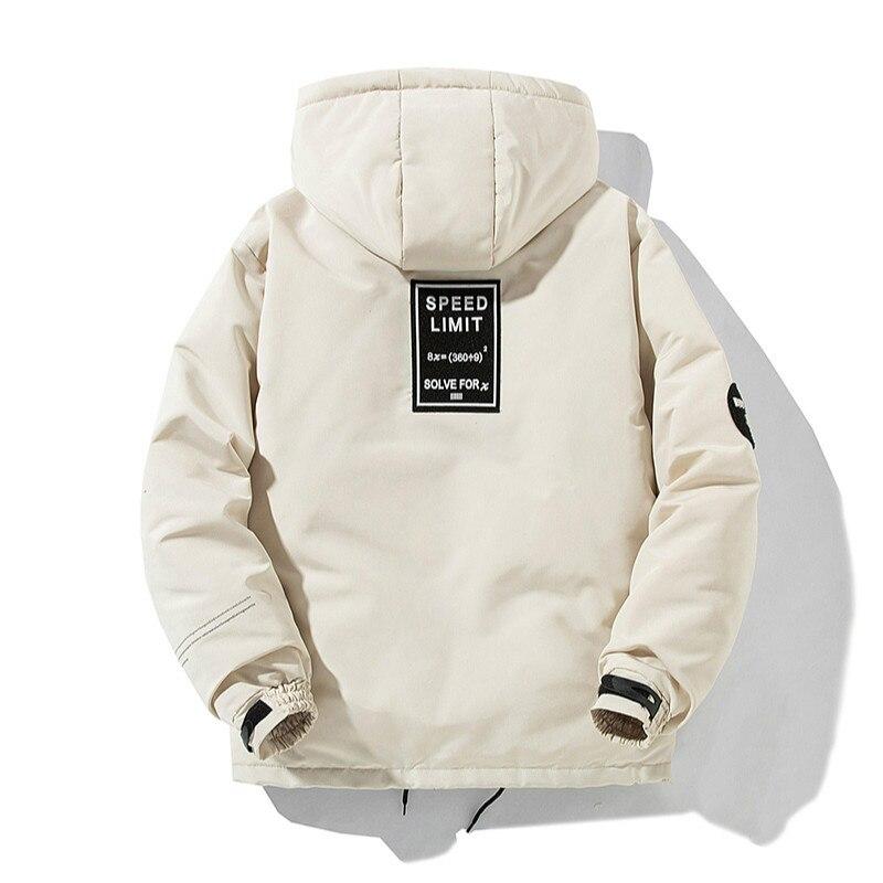 Chaqueta de invierno para hombre de algodón grueso cálido acolchado béisbol prendas de vestir Casual Color sólido con capucha Multi-Bolsillo costo Parkas Homme