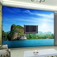 Papier peint Photo Mural personnalisé   Paysage naturel, papier peint 3D pour salon, décor de maison