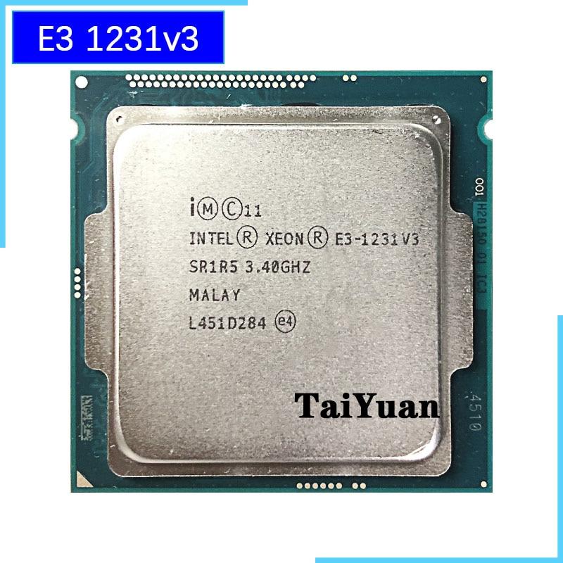 [해외] 인텔 제온 v3 E3 1231 V3 E3 1231V3 3.4 GHz 쿼드 코어 CPU 프로세서, 8M 80W LGA 1150