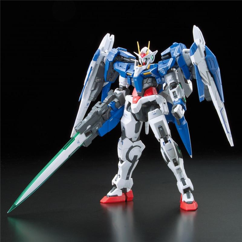 2019 new genuine RG 1/144 Anime HG 00 Raiser Gundam GN-0000 model assembled 13cm 00R Robot action figure gunpla Cartoon kids toy