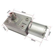Bringsmart JGY-370 웜기어 모터 6v 고 토크 12 V DC 모터 저속 12 볼트 감속기 마이크로 자동 잠금 전동기