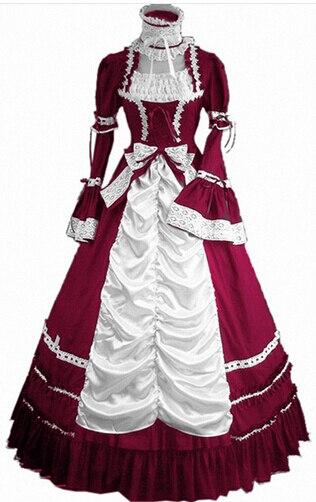 (LL81)The 2016 New Women Summer Dress Party Gothic Victorian Lolita Dress Halloween Sweet Costumes Victorian Halloween for Girls
