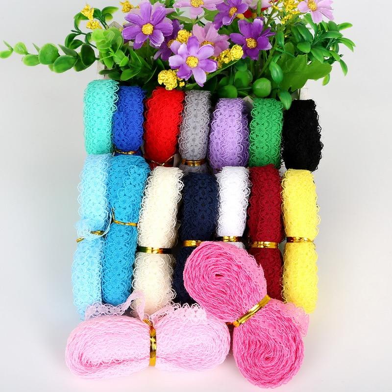Bandeau en tissu brodé 5yards/lot   Filet, largeur 15mm, bandeau de vêtement avec ruban, accessoires décoratifs pour fête de mariage, bricolage