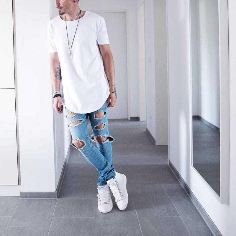 Man Si Tun Effen Kleur Curve Zoom Casual Heren T-shirt Longline 2019 Zomer Hiphop t-shirt Extended Straat Tee shirts voor Mannen