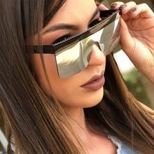 أسود كبير النظارات الشمسية رجل Vintage ريترو شقة علوي ساحة نصف إطار نظارات شمسية للنساء مرآة الفاخرة مصمم ظلال للنساء