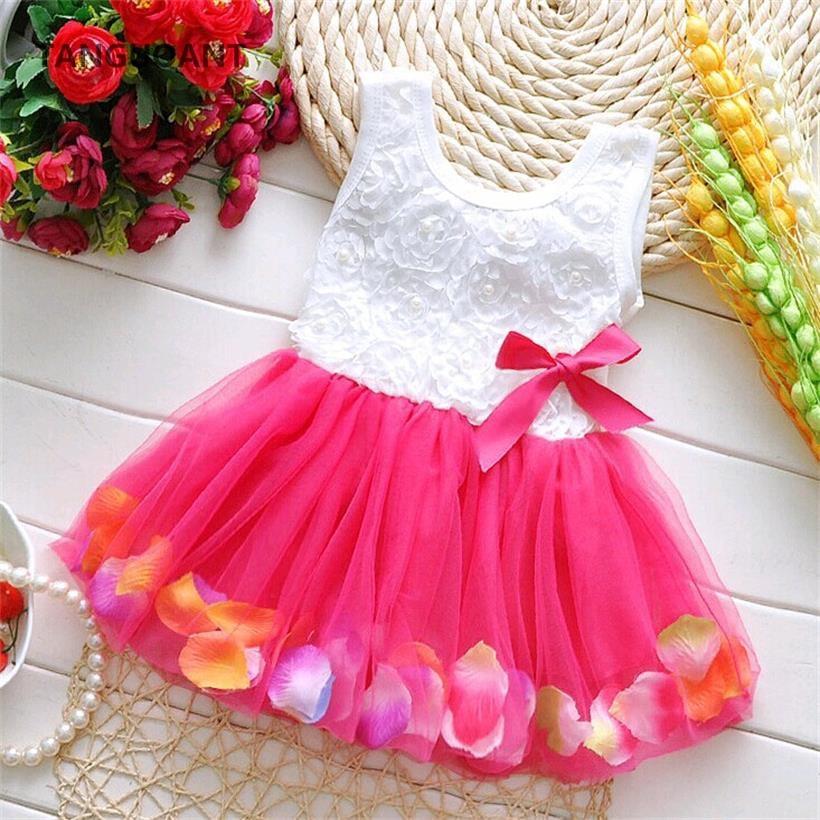 Платье с цветочным принтом TANGUOANT, Летнее мини-платье-пачка без рукавов для маленьких девочек, розовый, желтый, красный цвета