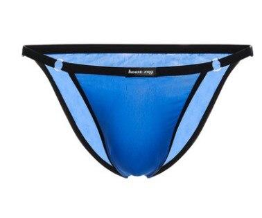 2018 marca rayo Howe, lencería sexy para hombres, ropa interior sexy de seda de hielo sólido, ropa interior transparente transpirable para hombres gay g-strings underpants