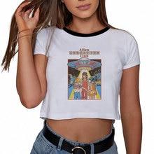 Verano Ulzzang pulpa divertida ficción gráfico Tee Streetwear Harajuku moda estética Grunge cultivo Top Sexy camisetas mujeres camisetas