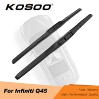 kosoo for infiniti q45 2618 2002 2003 2004 2006 car windscreen wiper blades fit hook arms clean the windshield auto styling