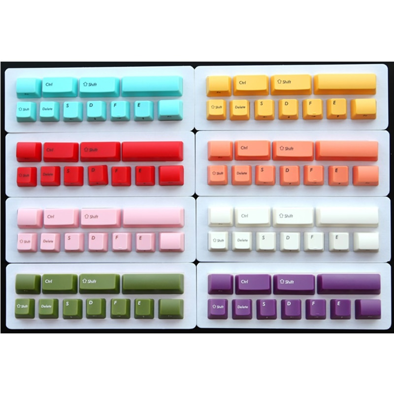 Abs backlit teclado machanical keycap oem altura para filco minila teclado machanical keycap branco rosa laranja