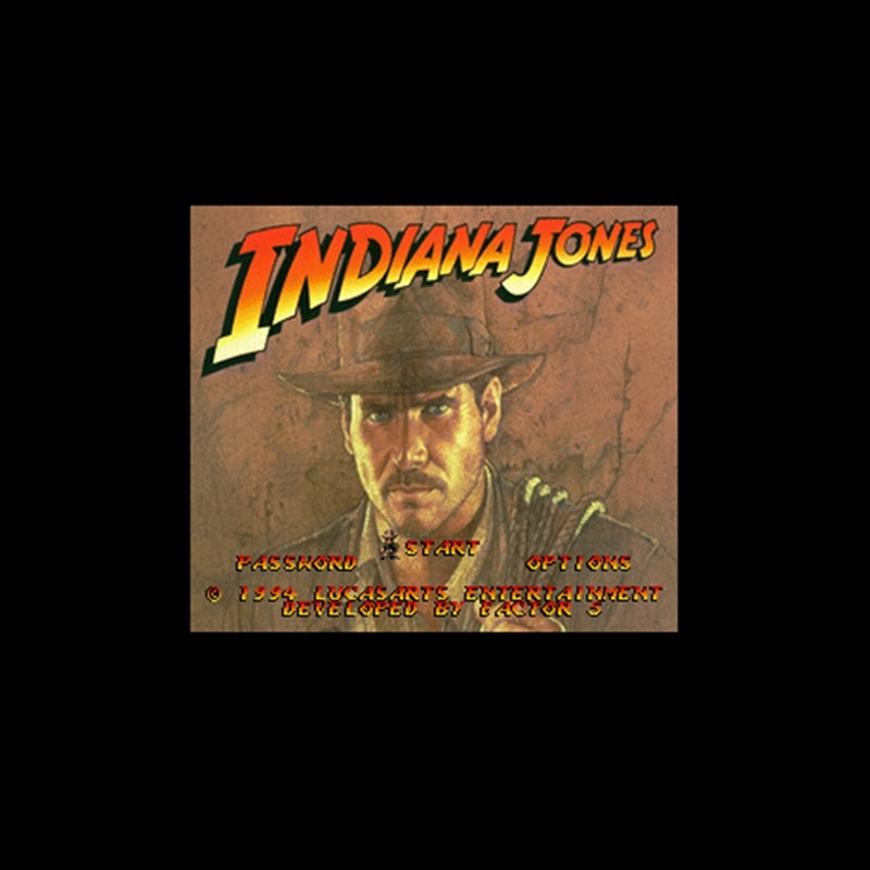Indiana Jones' Greatest Adventures 16 bit Big Gray Game Card For NTSC Game Player Drop Shipping