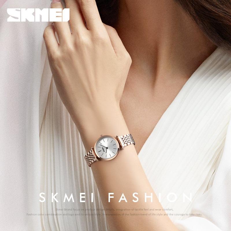 SKMEI Luxury Watch Women Watch Quartz Wristwatches Fashion Casual Waterproof Quartz Watches Small Dial Ladies Watch Reloj Mujer enlarge