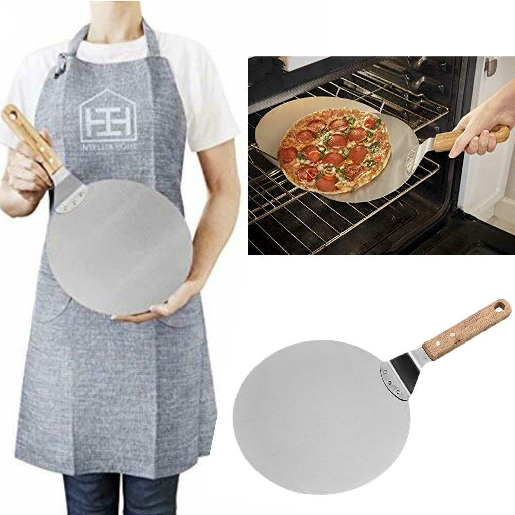 Durable pala para Pizza de 10 pulgadas hoja de acero inoxidable de calidad Pizza espátula para horno Pizza pala herramientas para pastelería, hornear Accesorios