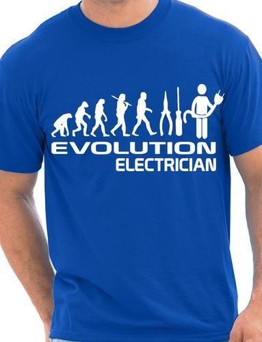 Забавная Мужская футболка с электриком, большие размеры и Colors-A045