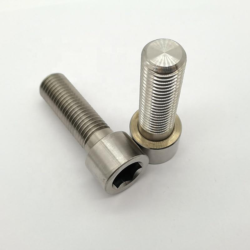 Купить с кэшбэком Hex Socket Bicycle Bolt Head Cap Screws 304 Stainless Steel Din912 M4 M5 M6 Hexagon 4.8/ 8.8/ 10.9/ 12.9 10pcs Metric Thread