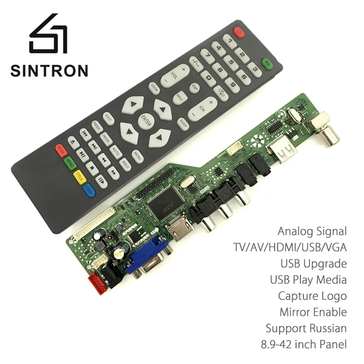 [Sintron] hdmi vgaオーディオユニバーサル液晶テレビモニター画面コントローラドライバボードpc/vga/hdmi/usbインタフェースキット置き換えるv56 v29