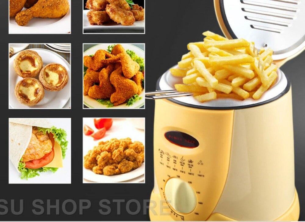 Frigideira multifuncional de 0.9l, fritadeira elétrica multifuncional para óleo, batatas fritas, frango, pote de peixes