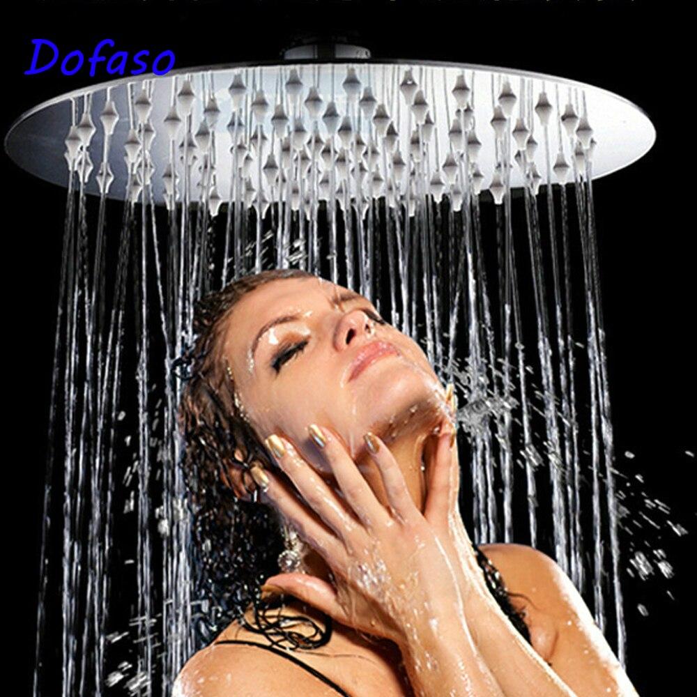 Dofaso насадка для душа высокого давления круглая и квадратная головка опрыскиватель для душа из нержавеющей ультра-тонкий дождевой Душ 4/6/8 дюйма