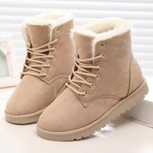 LAKESHI Women Boot 2019 Fashion Women Snow Boot Botas Mujer Shoes Women Winter Boots Warm Fur Ankle Boots For Women Winter Shoes