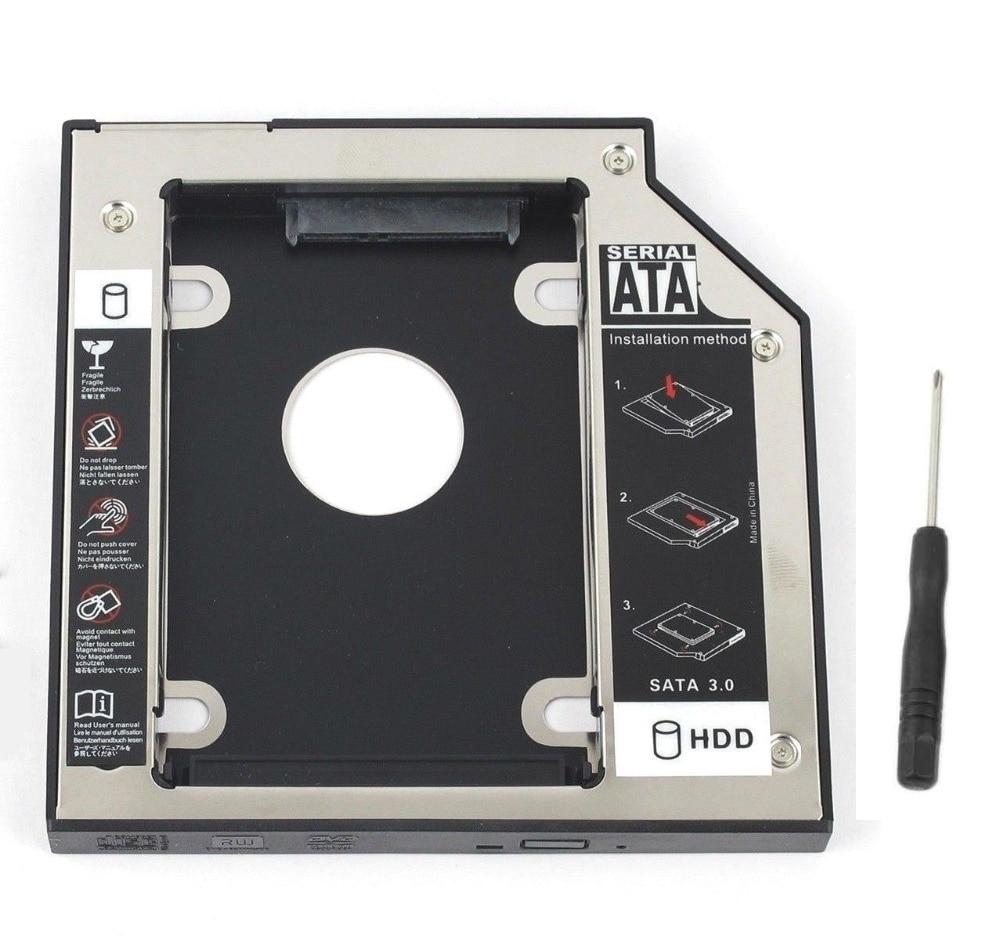 WZSM nuevo 9,5mm SATA 2nd SSD HDD Caddy para Dell Latitude E6320 E6330 E6430 E6430s E6430u E6430ATG Disco Duro Caddy