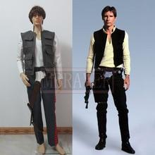 Star Wars la fuerza despierta la Alianza Rebelde General Han Solo Cosplay traje de capitán traje de Halloween