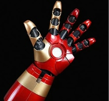 Fer chaud homme MK43 1/1 mobile portable bras gant avec lancement son Laser arme LED ABS Cosplay action figure jouets noël