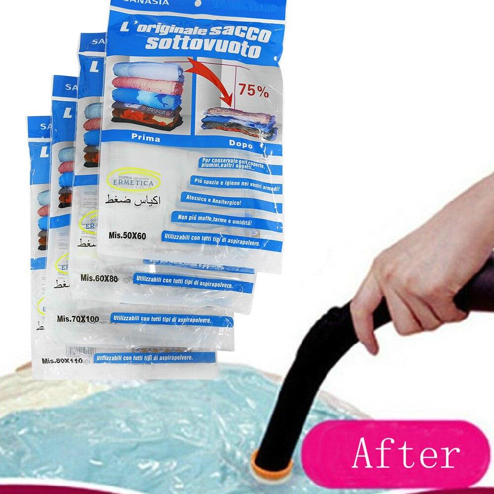 Bolsa de compresión al vacío se puede volver a utilizar bolsa de tejido sellada de almacenamiento azul compra al por mayor #4JY18