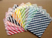 Sacs artisanaux à motif diagonale à rayures 25 pièces   Sacs alimentaires pour fête danniversaire mariage couleur 1-11