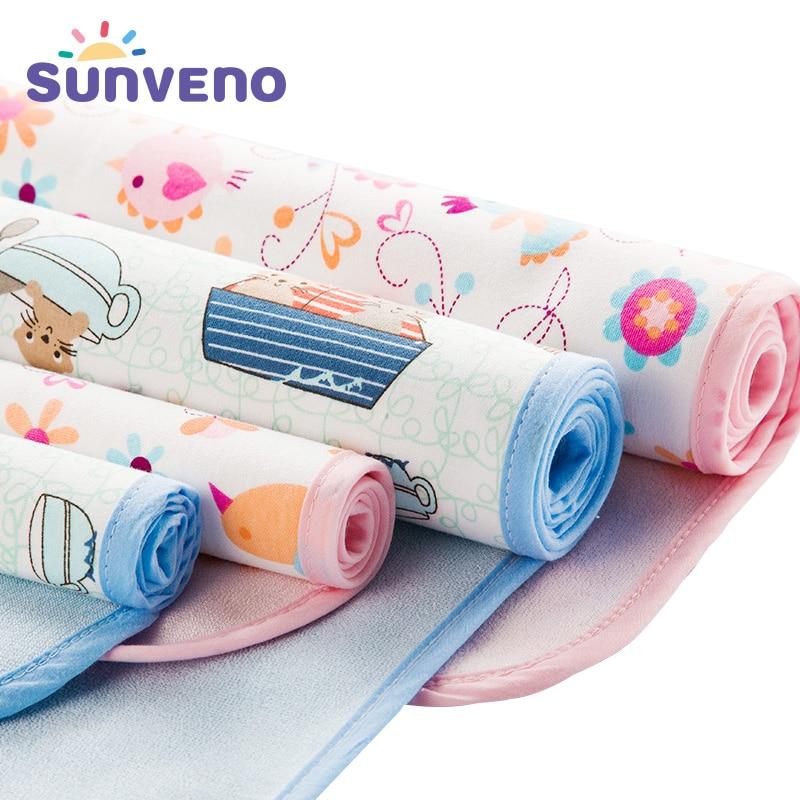 Cambiador de bebé, colchoneta lavable para bebés, colchón impermeable, almohadilla cambiante de dibujos animados, alfombrillas, cojín, pañal reutilizable