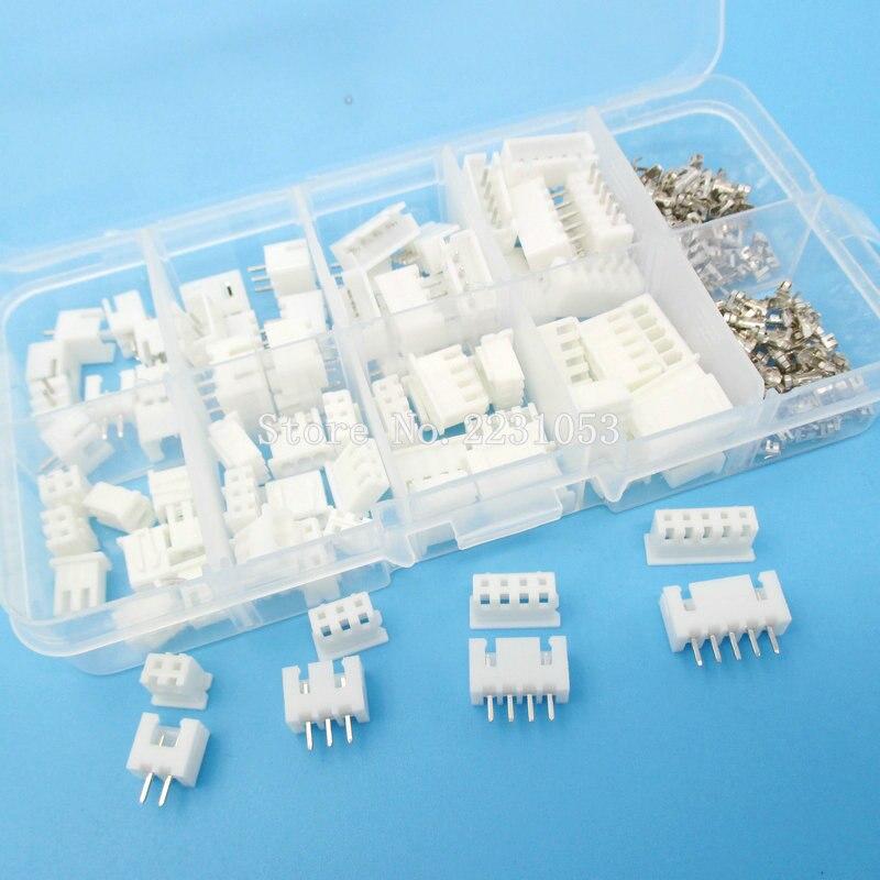 Набор клемм XH2.54, 230 шт., 2p, 3p, 4p, 5 контактов, 2,54 мм