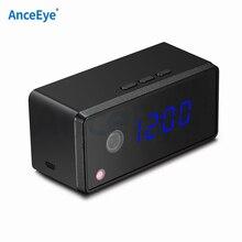 Tarjeta TF AnceEye camhi 720P WIFI Mini cámara IP reloj cámara inalámbrica onvif P2P led IR Red interior soporte máximo Tarjeta de 32GB