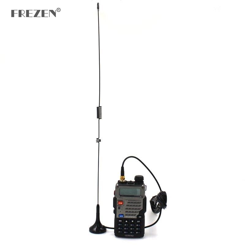 Antena do carro UT-106 sma-fêmea magnético hf veículo montado antena para baofeng 888 s UV-5R rádio em dois sentidos walkie talkie acessórios