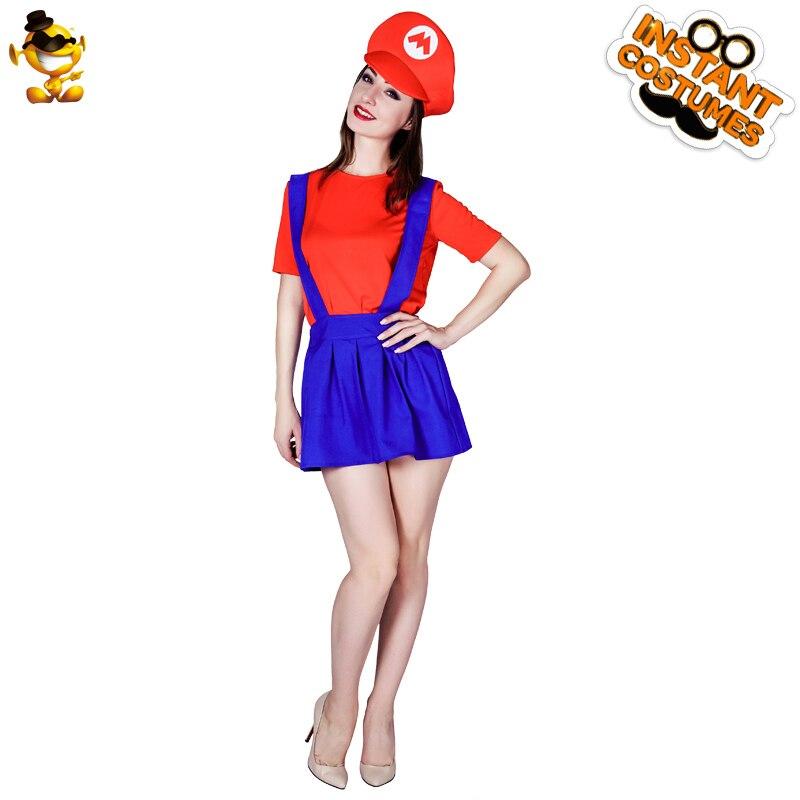 DSPLAY, новый дизайн, милый карнавальный костюм Марио для девочек, маскарадный костюм, маскарадный карнавальный костюм, классические костюмы для женщин