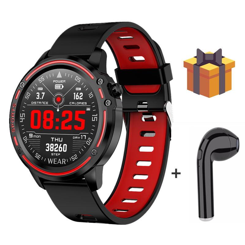 L8 Смарт-часы калорий IP68 водонепроницаемый мужской спортивный браслет с сердечным ритмом VS L9 Bluetooth подключение вызова напоминание Смарт-часы с гарнитурой