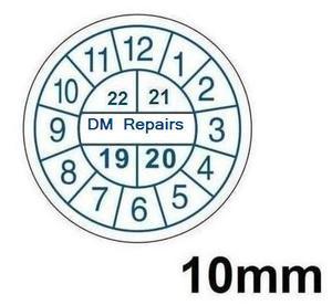 10 мм круглые наклейки, мини-печать с нестираемыми чернилами, легкое измельчение гарантийного уплотнения