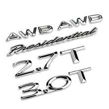 AWD-autocollant lettre présidentielle 2.7T 3.0T   Étiquette de voiture en métal 3D, Badge demblème, pour Lincoln MKZ MKC MKX navigateur MKT MKS