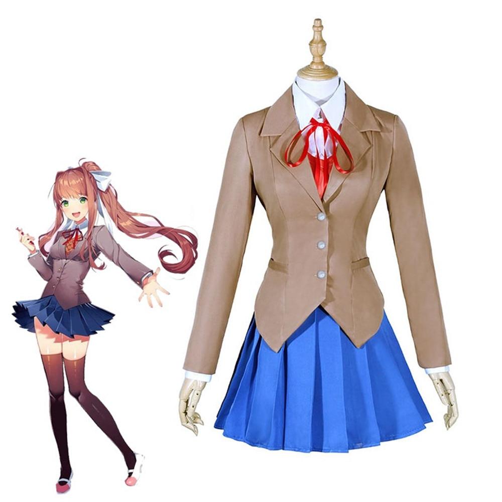 Disfraz de Doki de CosZtkhp, Club de literatura, Monika, Cosplay de Sayori Yuri Natsuki, uniforme escolar, disfraz de chica y mujer, juego de disfraz, Cos
