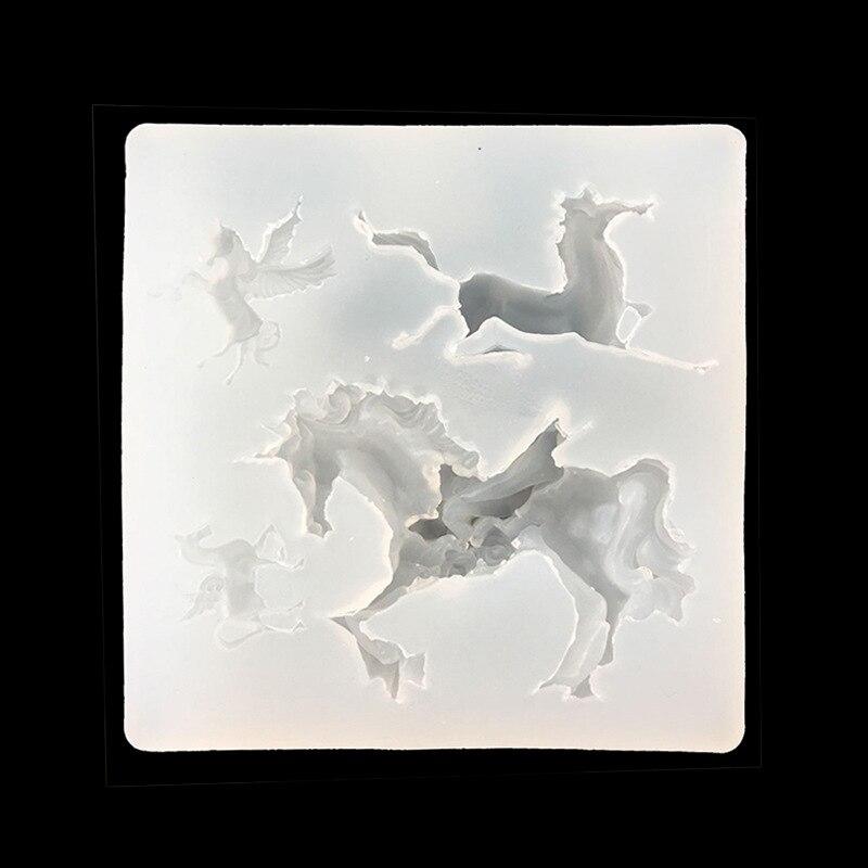 4 формы лошади греческие DIY ювелирных изделий силиконовые формы, Sugarcraft, торт Toppers пищевой Сейф