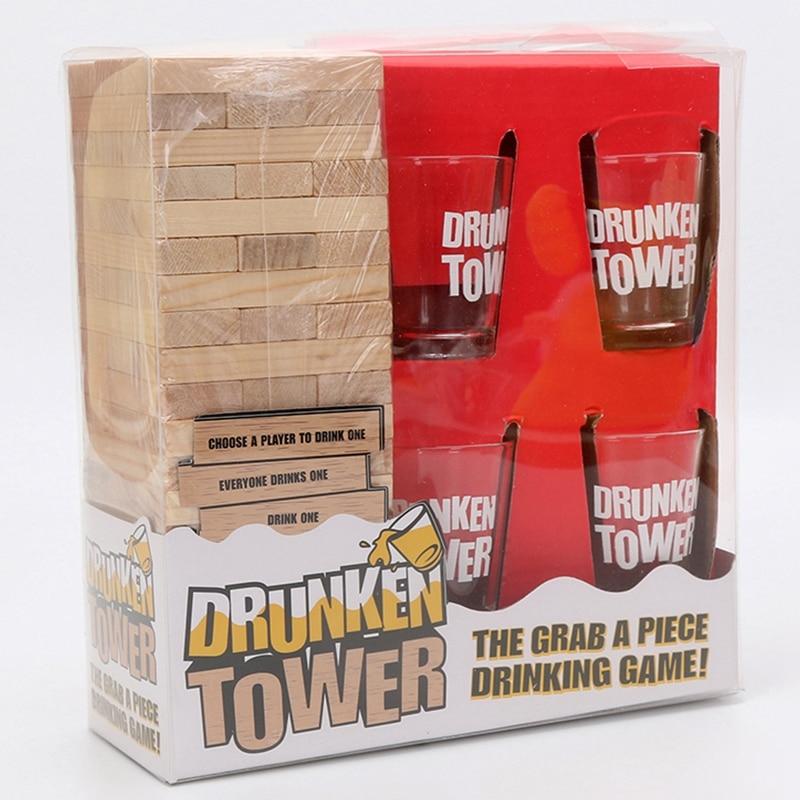 Пьяная башня игры Краб кусок питьевой игры головоломки настольная игра бинго ночной клуб Вечерние игры