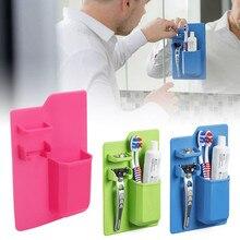 Silicone Mighty Toothbrush Razor Holder Mirror Bathroom Toiletry Organizer Decor