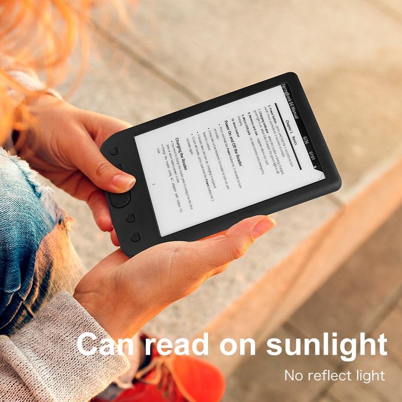 8GB E-BOOK Reader E-Ink 6 inch e books E-reader 800x600 Resolution Display 300DPI with e-reader cover