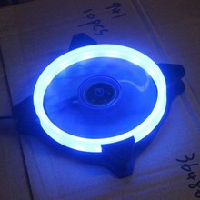 Gdstime 5 Pcs DC 12V 120mm LED Fan 12cm 3Pin 4Pin 120x120x25mm PC CPU Fan 12025 Cooling Cooler Blue Light LED Radiator