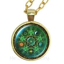 Triple Moon Goddess Wicca Pentagram Magic Amulet Talisman Women Moon Necklace Tibetan Vintage Jewelry Gift For Family Talisman