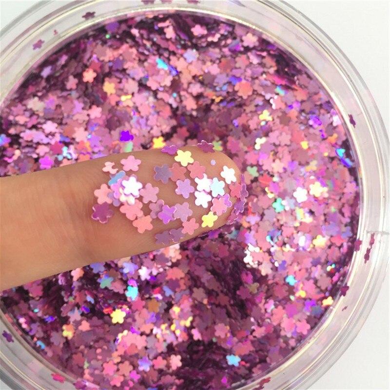 Ultrafinos Plum Lantejoulas 3mm PET Prego Glitter Paillettes Laser de Prata Óxido de Etileno-Friendly PET Lantejoulas Unhas Materiais de arte Manicure 8g