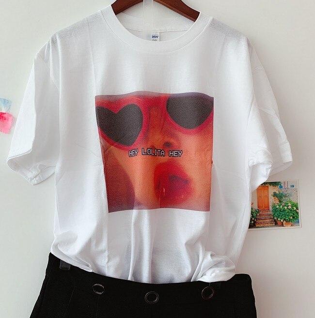 Sunfiz Hey Lolita camiseta Hey Lana Del Rey Musical Punk Rock hombre mujer camiseta verano cuello redondo de moda estilo Casual camiseta