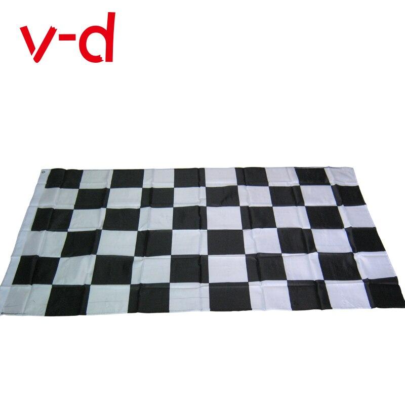 Бесплатная доставка, черно-белый клетчатый баннер xvggdg, 3*5 футов, автомобильные гонки флаг гоночные клетчатые флаги, Мотоспорт, гонка