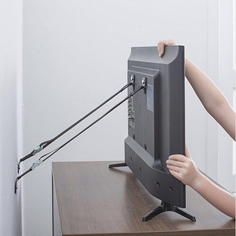 Высокое качество детский замок безопасности 2 шт./лот Детская безопасность анти-наконечник ремни для плоского телевизора и мебели настенный ремень детский замок Защита