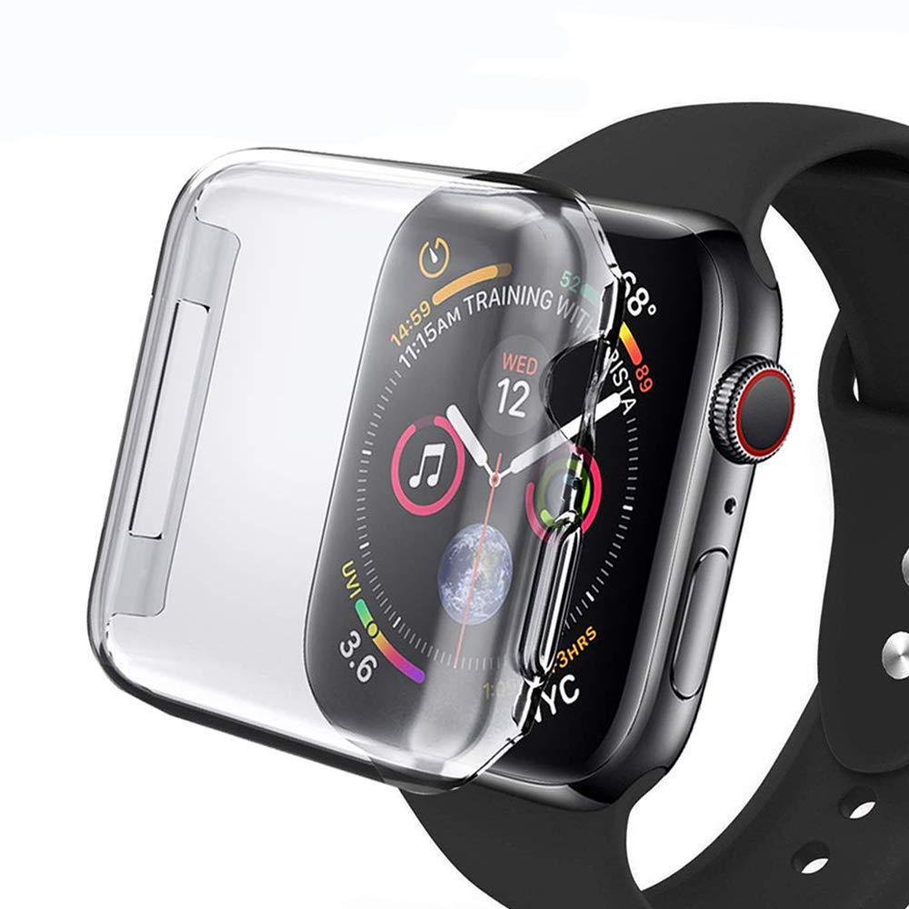 Protector de pantalla de PC duro ultrafino para Apple Watch Series 5/4/3/2 Protector de carcasa para iWatch 42 38mm 44 40mm