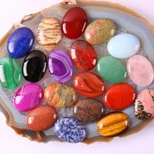 40x30MM opale/Quartz/Rhodonite/Tigereye/Sodalite/Lapis/pierre/grès/Aventurine/cornaline pierre ovale Cabochon cabine gemme 1 pièces