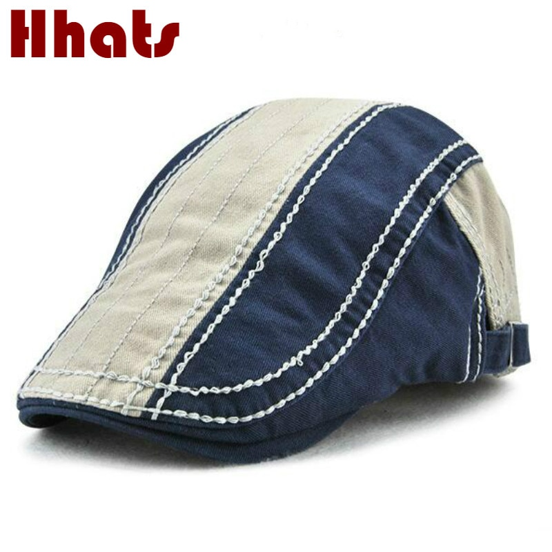 high quality cotton casual beret hats new summer sports patchwork beret cap for women men sports fla